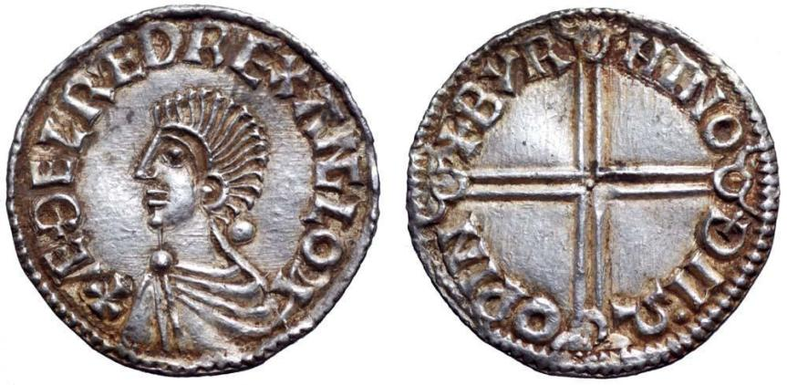 Anglo-Saxon Kings of England, Aethelred II AR Penny. Canterbury Mint, AD 978-1016