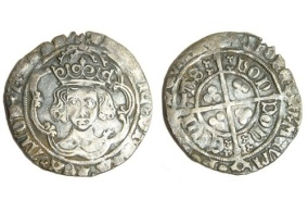 Silver hammered groat of Henry VII dating from c. AD1490-1504.
