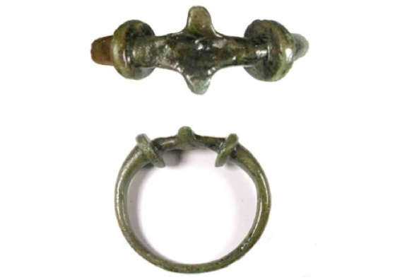 Cast copper-alloy late Iron Age to early Roman plain terret ring.