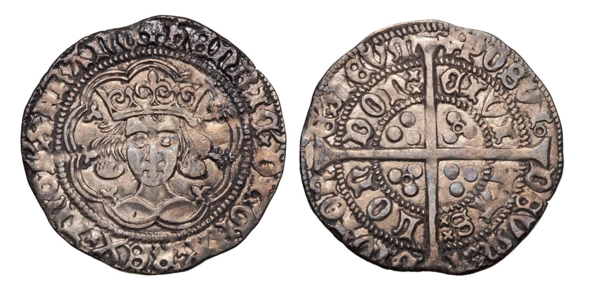 Henry VI annulet issue groat of the London mint dating to 1422-27